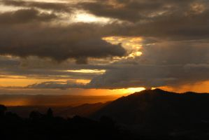 sunset from dad's finca by shiitakexxxx