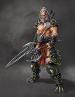 Diablo III Fan Art Contest - Barbarian by romal-r