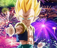 Gotenks Fireworks Picture by PikachuStar93