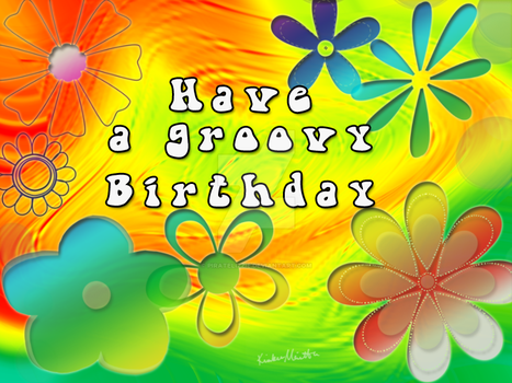 Groovy Birthday  card by PirateLizzie