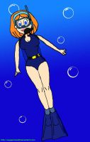 Lisa (Dexter's Lab) Scuba Diving by VoyagerHawk87
