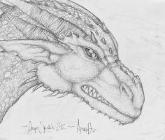 DRAGON SKETCH FINISHED by Absur-D