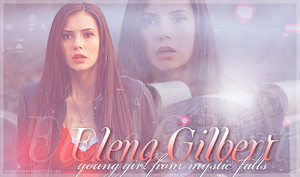 Elena Gilbert - Young girl from Mystic Falls by franzi303
