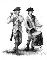 """Continental Fife and Drum"" by Trexlerhistoricalart"