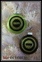 Type O Negative Glitter Logo Ornaments by MissOctober13