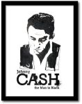 Johnny Cash - Poster by 2canart