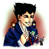 Phoenix Wright by AStudyInScarlet
