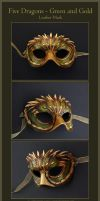 Five Dragons - Leather Mask by windfalcon