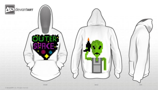 Outer Space 8-bit hoodie by N1CO95