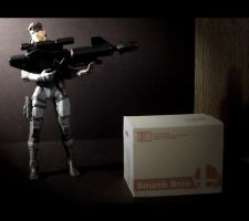 Snake's Big Gun and Box by AnimatorAR