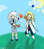 Mithos and Genis for Stealthos by Aselea