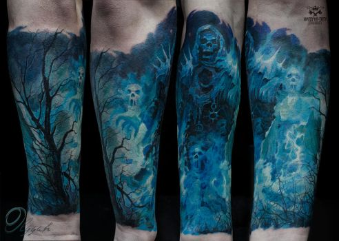 Hades tattoo by Olggah