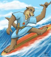 Surfin' Otter by Temiree