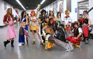 Final Fantasy cosplay group by jpop52