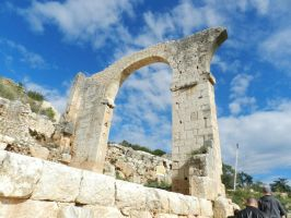 Old Roman Arch - Original by BlissfullyRebellious