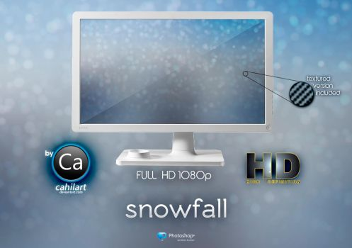 Wallpaper Snowfall by CaHilART