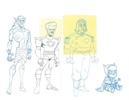 ANIMATION: Batman Brave and the Bold: Characters by StephenBJones