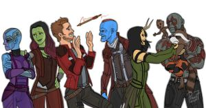 Guardians of the Galaxy 2 by pencilHeadno7