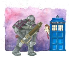 Commission: Wrong Stop (Death Watch/Doctor Who) by crazycat13design