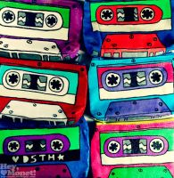 mixed tape pouches by heymonet