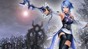 Aqua Kingdom Hearts - PS3 theme Wallpaper by fotis-sora
