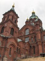 Red brick cathedral by Sipramiili