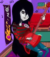 Marceline The Vampire Queen ROCKING OUT! by Crescendolls187
