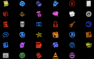 Neon OSX icons by xkldskpx