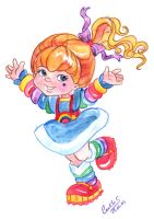Rainbow Brite in aquarel by landesfes