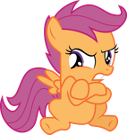 Grumpy Scootaloo by Hourglass-Vectors