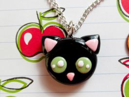 Black Cat Necklace by PoisonedAppleAcc