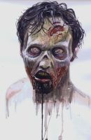 Zombie painting by ArtofDrum
