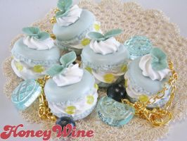Blue macaroons 1 by rriee