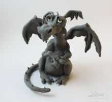 Sad Dragon (Unpainted) by LitefootsLilBestiary