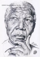 Nelson Mandela (Pencil) by lorenzowalkes