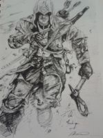 assassins creed 3 sketch by Little-Tuss