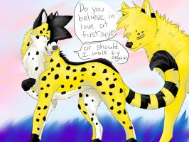 Cheetah and Wolfen by wolfpup166