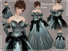 Thunderstorm Gown by Elvina-Ewing