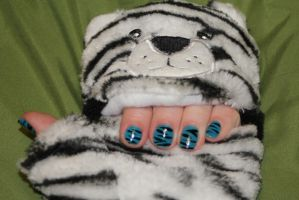 blue tigers by rainbow1977