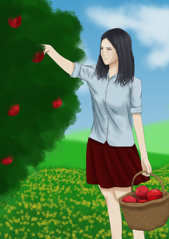 Girl 3 - Harvesting. by SpeedArtSA