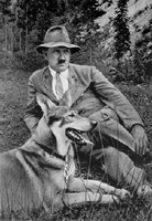 Hitler with his dog (In the Berghof grounds) by SupremeChancellor12