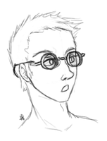 Bespectacled dude by Alisha-town