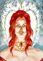 the red priestess by wolfKardia