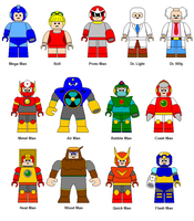 LEGO Mega Man characters 2 by Gamekirby