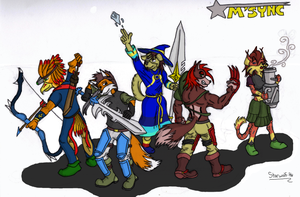 Group Picture : M'SYNC by Starwolf-ftw