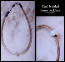 Opal braided horse necklace by Tirramirr