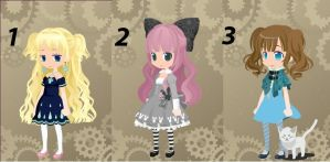 Free TinierMe Adopts- Set 7 :Closed: by Stella-Kitty