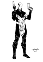 Sharp - pappersflygplan inks by SpiderGuile