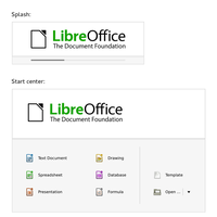 Libre Office Splash and Start Center by max1mlinux