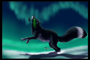 Kiriban: Dark Arctic Fox by NightMagican